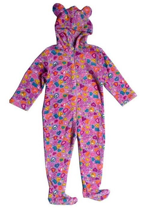 Cupcakes Fleece Adult Footed Pajamas with Drop Seat, Long Cap, and Scarf $ Cartoon Hearts Fleece Adult Footed Pajamas with Drop Seat and Long Night Cap.