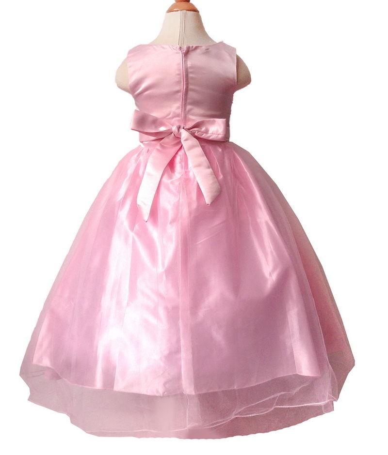 Vestido infantil de niña con Tul desfile Boda Princesa Fiesta ...