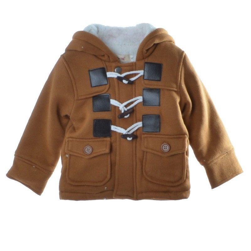 Toddlers Baby Boy Warm Jacket Coats Fleece Snowsuit Winter ...