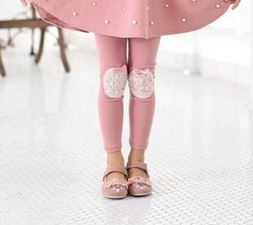 New Girls Leggings Cotton Trousers Baby Kids Clothes 3-8Y Toddler Pants