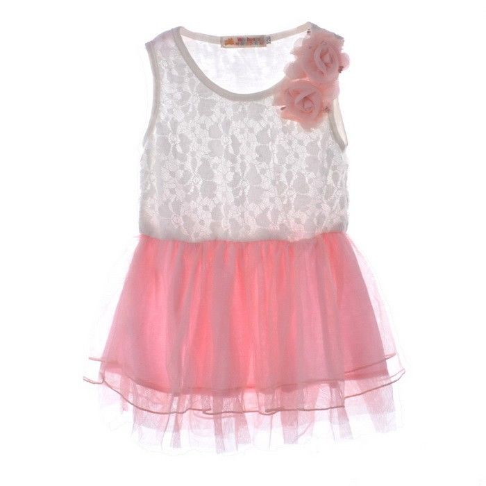 Girls Kids Princess Lace Tulle Dress 2-7Y Top Skirts +Pants 2Pcs Summer Outfits