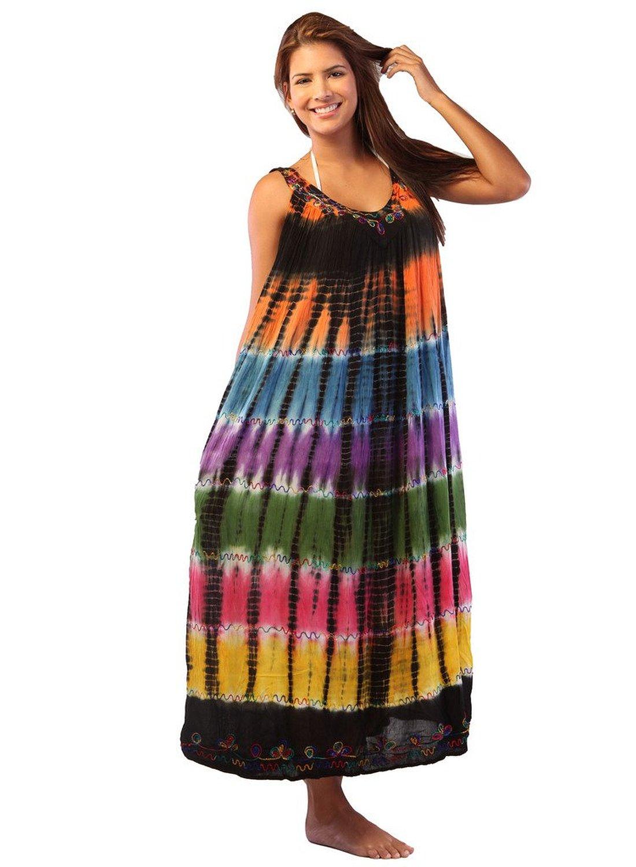 ingear tie dye umbrella dress long batik dress ebay. Black Bedroom Furniture Sets. Home Design Ideas