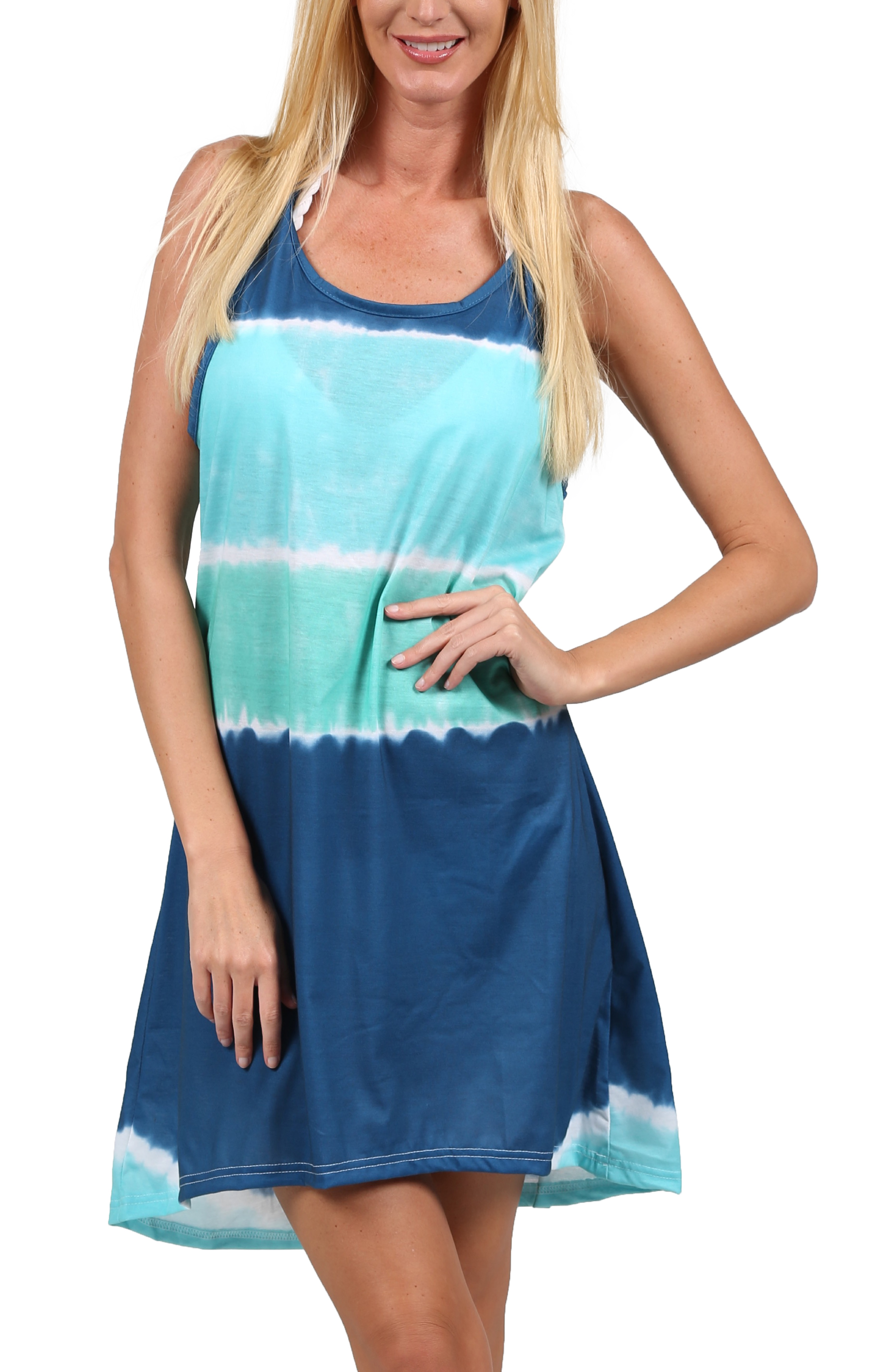 Our collection of casual dresses for women includes drawstring maxi dresses, swing dresses, tank dresses, and easy shift dresses, which all have an effortless feel that works for informal occasions. If you do prefer a fitted shape, choose an easy style like a jersey t-shirt dress.