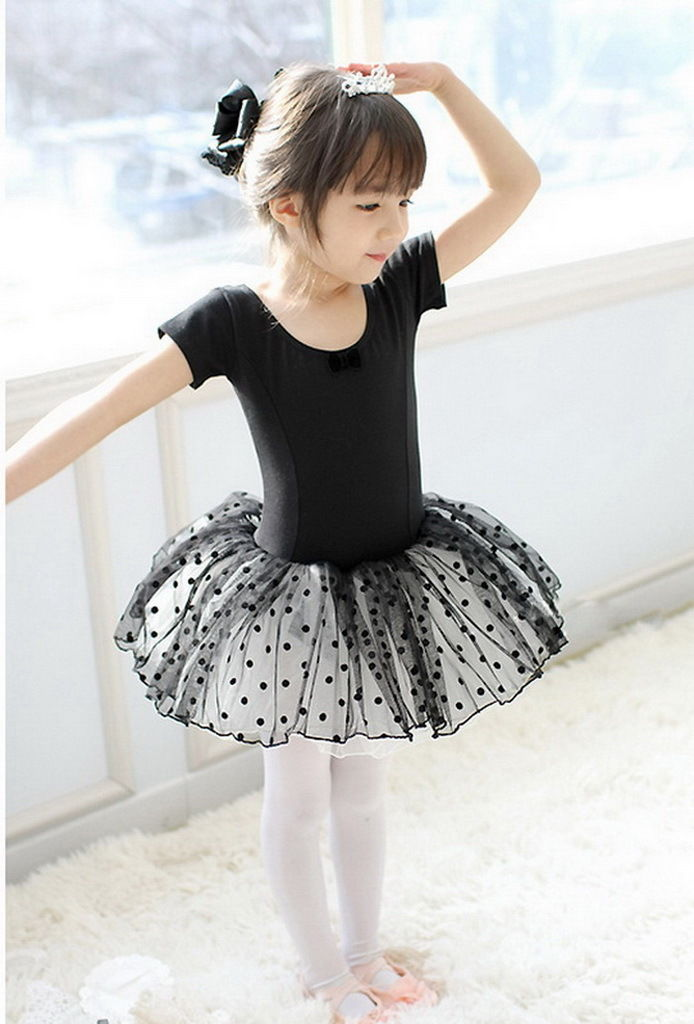 Girl Gymnastics Dance Dress Kids 3-12Y Ballet Tutu Leotard Skirt Skating Costume