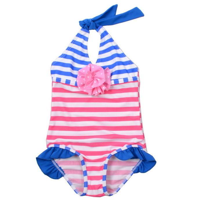 Girls Dot Swimwear Bikini Tankini 3-8Y Kid Stripe Swimsuit Bathing Beachwear New