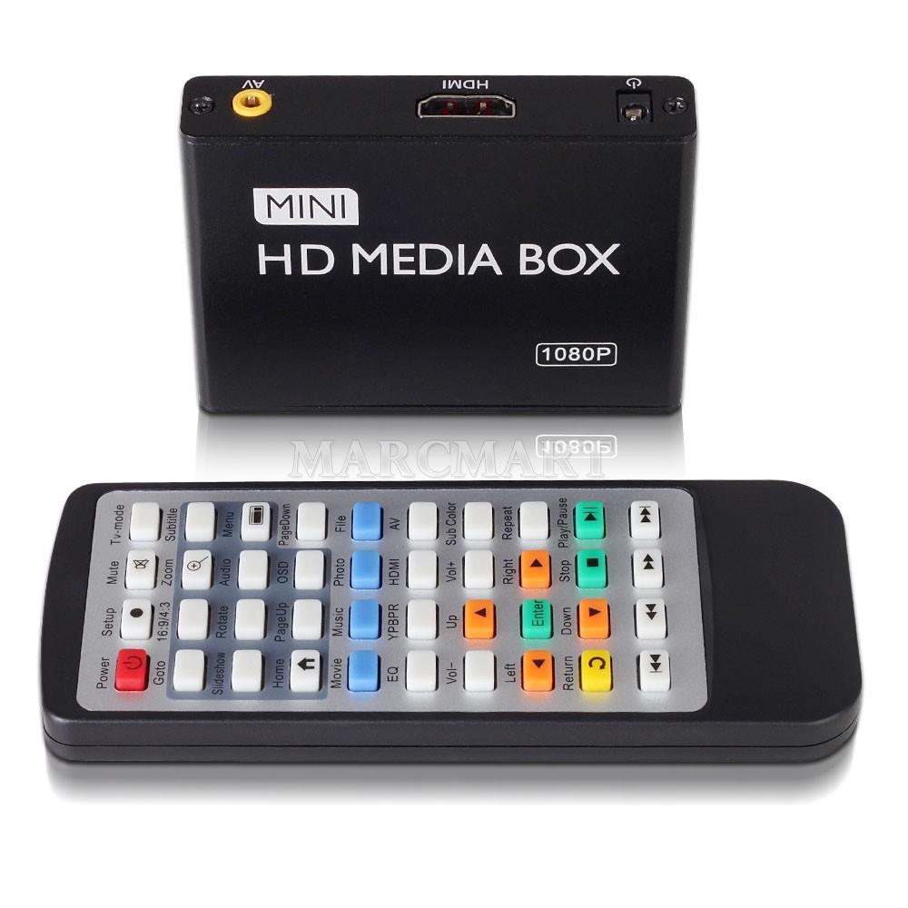 mini full hd 1080p media box usb media player with hdmi av. Black Bedroom Furniture Sets. Home Design Ideas