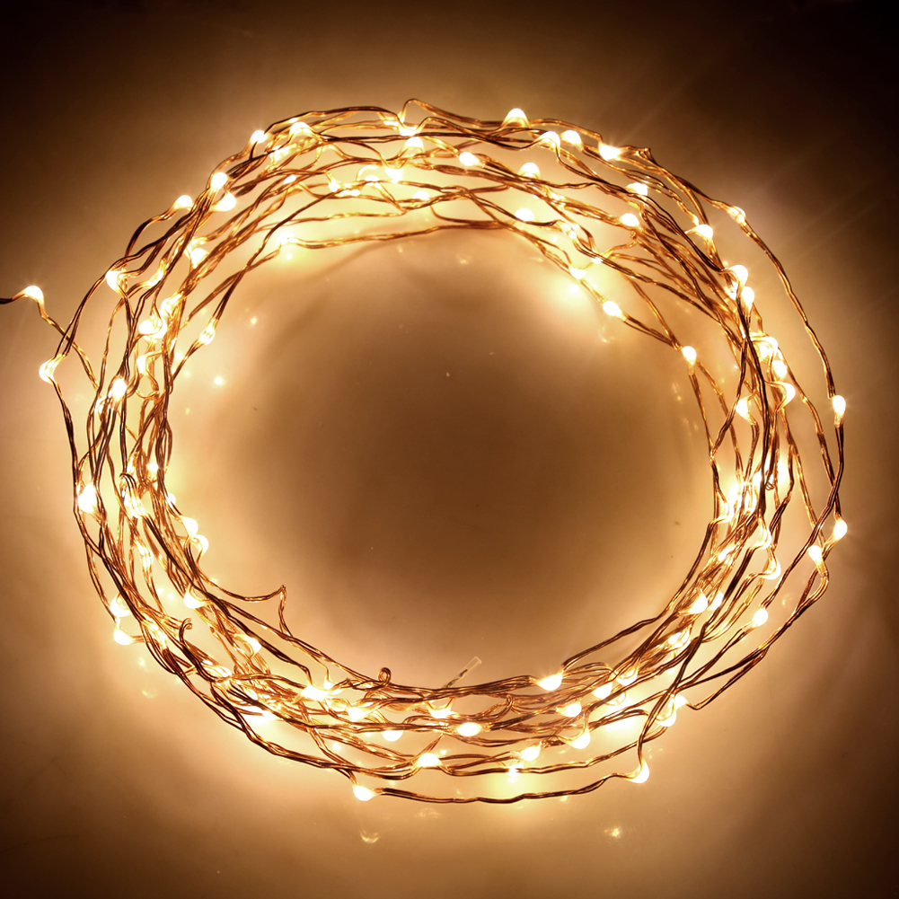 New 40ft 120 Micro LED String Lights on Copper Wire For Xmas With Power Adapter eBay