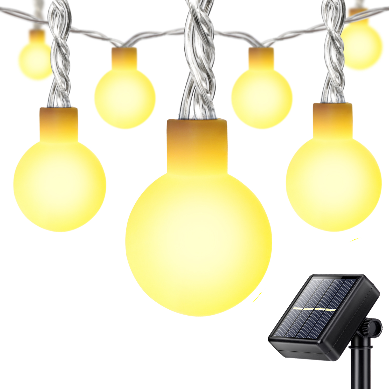 Led Globe String Lights Warm White : 25ft 50 Warm White LED Globe String Fairy Lights Xmas Party for Garden Home eBay