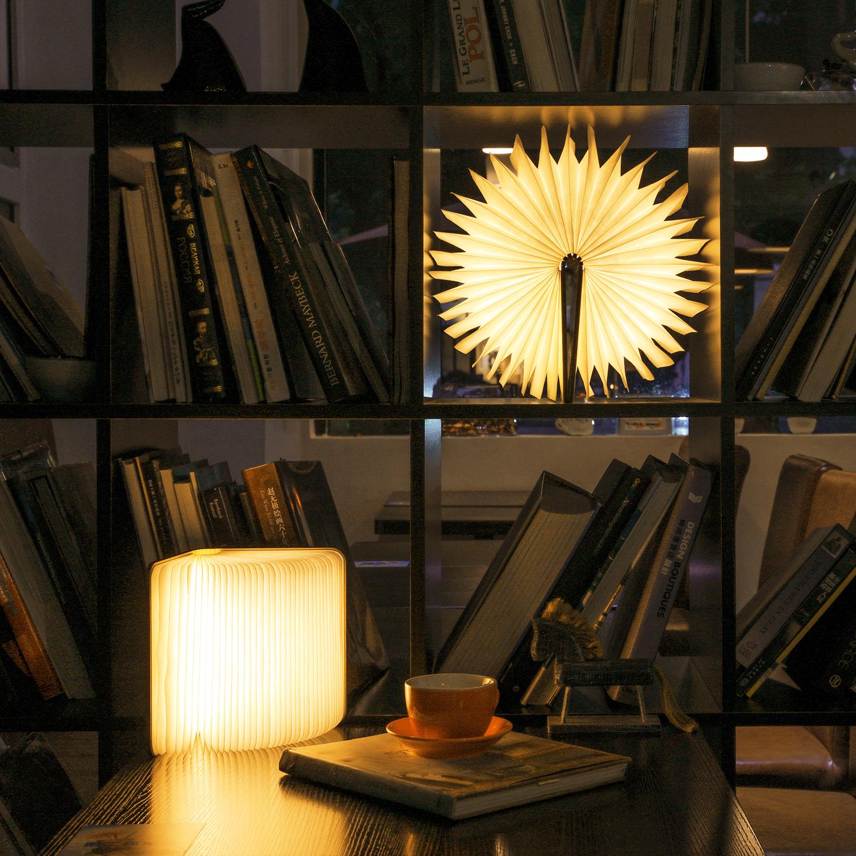 Warm Light Usb Rechargeable Led Folding Book Light