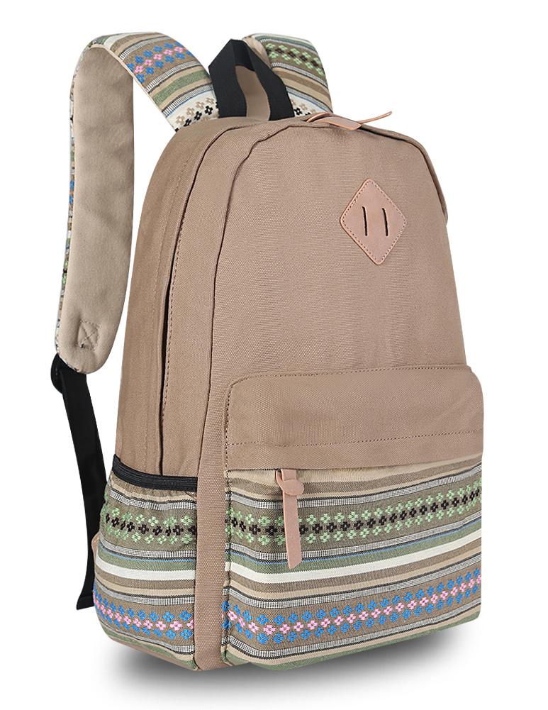 Fashion Unisex Canvas Girl Cute Backpack Rucksack Travel Shoulder ...
