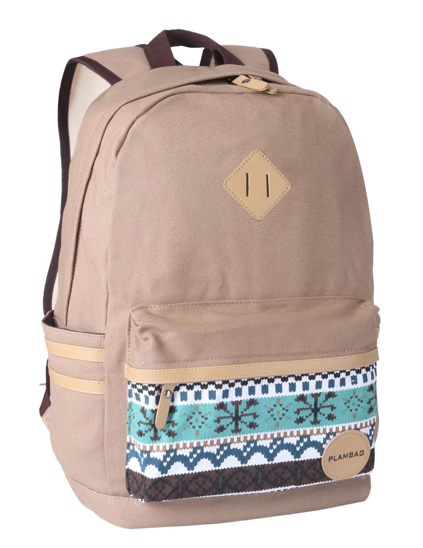 Women Girl Canvas Backpack Rucksack Shoulder Bag Travel School ...