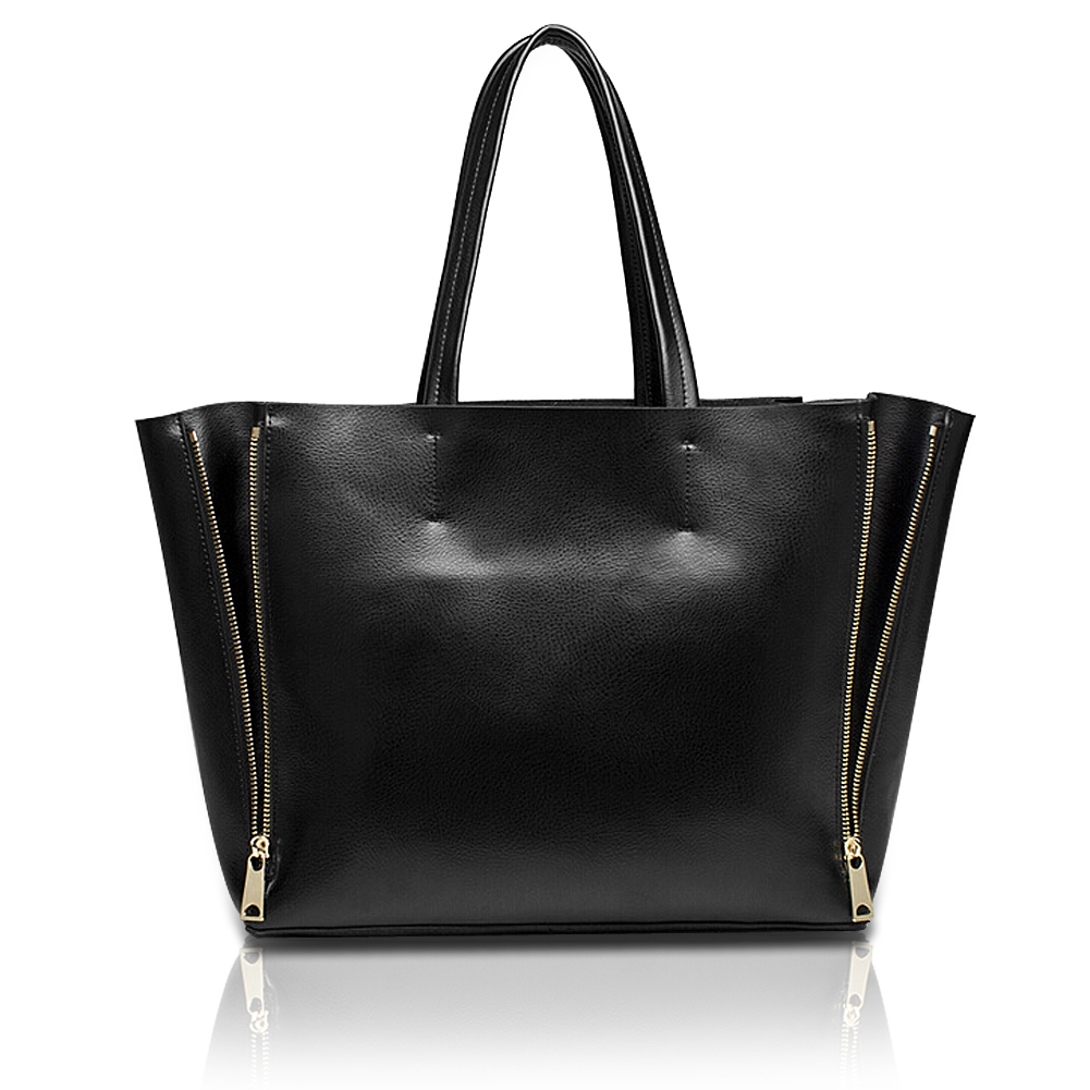 Popular Womens Leather Tote Bag Black  61638 | Leather Handbags
