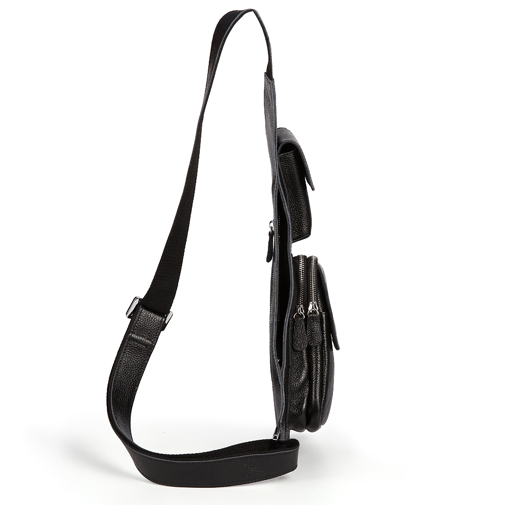 Sling bag on ebay - Kattee Genuine Cow Leather Cross Chest Shoulder Sling