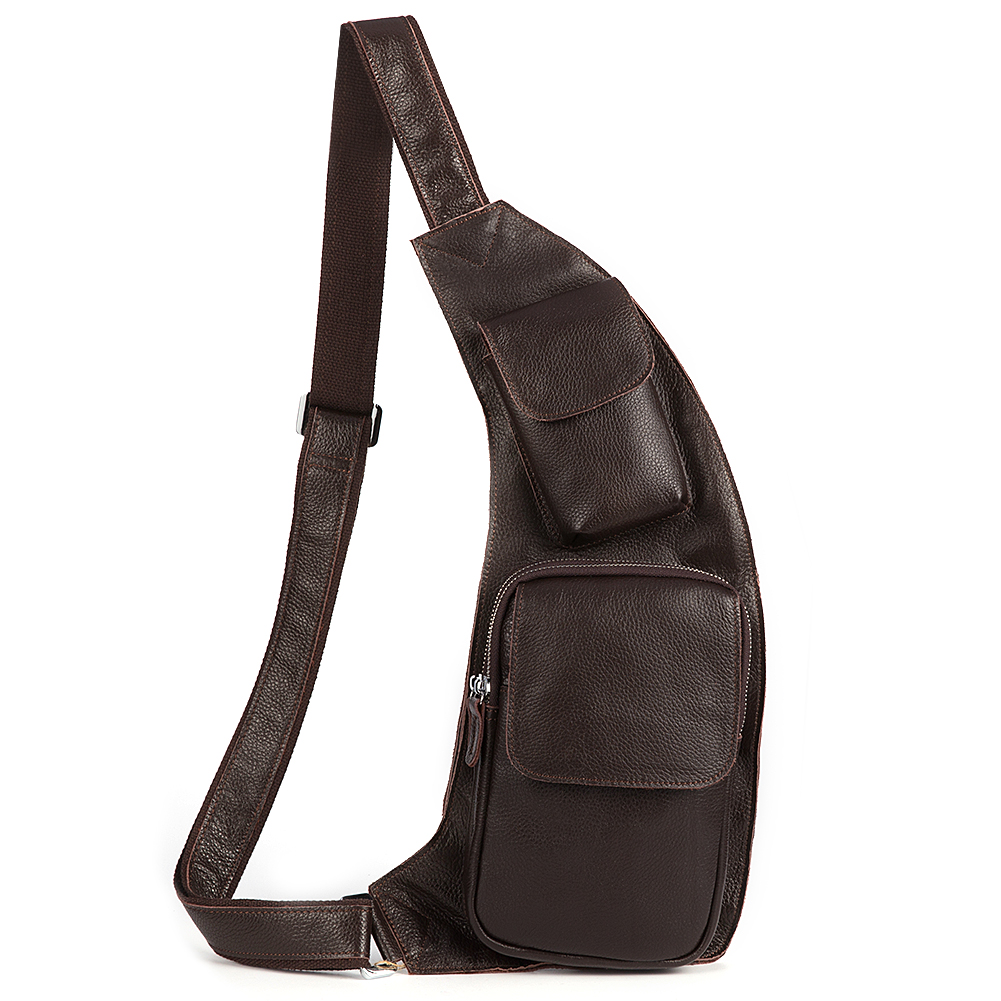Sling bag on ebay - Kattee Fashion Genuine Cow Leather Cross Chest Shoulder