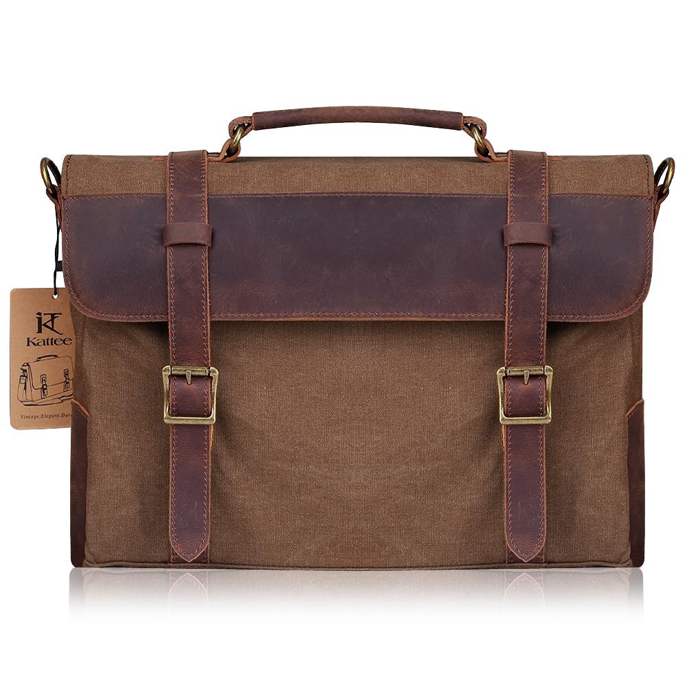Kattee Men Fashion Leather Messenger Shoulder Bag Vintage ...