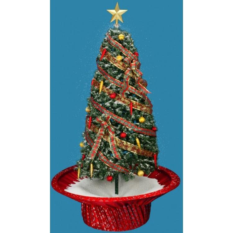 Mark Roberts Snowing Rotating Musical Christmas Tree Red