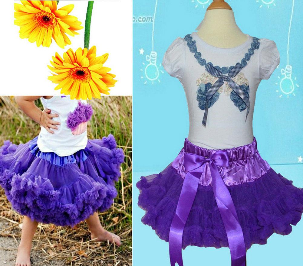 NWT-GIRLS-KIDS-SKIRT-PARTY-DANCE-TUTU-DRESS-PETTISKIRT-1-8Y-FREE-FLOWER-HEADBAND