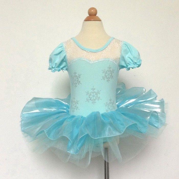 New Girls Ballet Tutu Dancewear Dress Frozen Princess 2-8Y Kids Dancing Costume