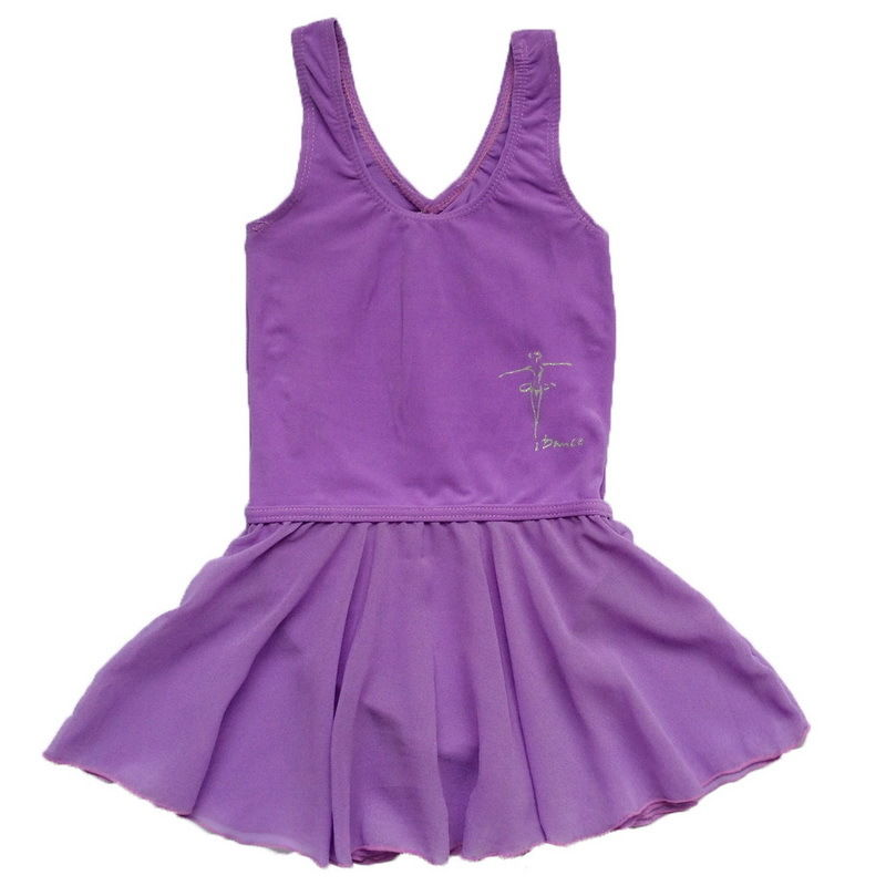 Girls-Gym-Skate-Sleeveless-Dress-Kids-Ballet-Dance-Chiffon-Skirt-Dancewear-2-14Y