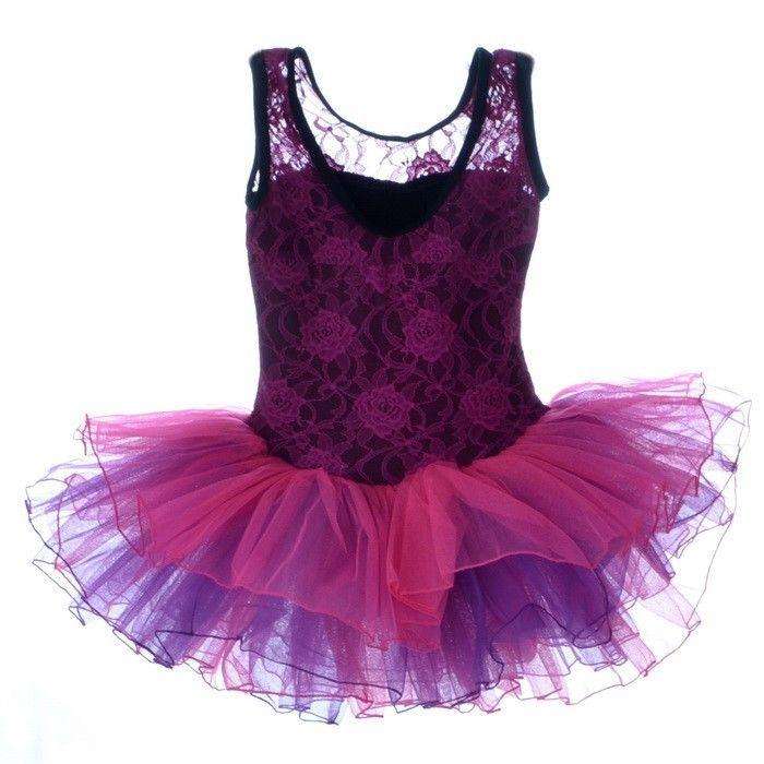 Girls Party Costume Ballet Tutu Dance Dress 3-8Y Kids Leotard Toddler Show New