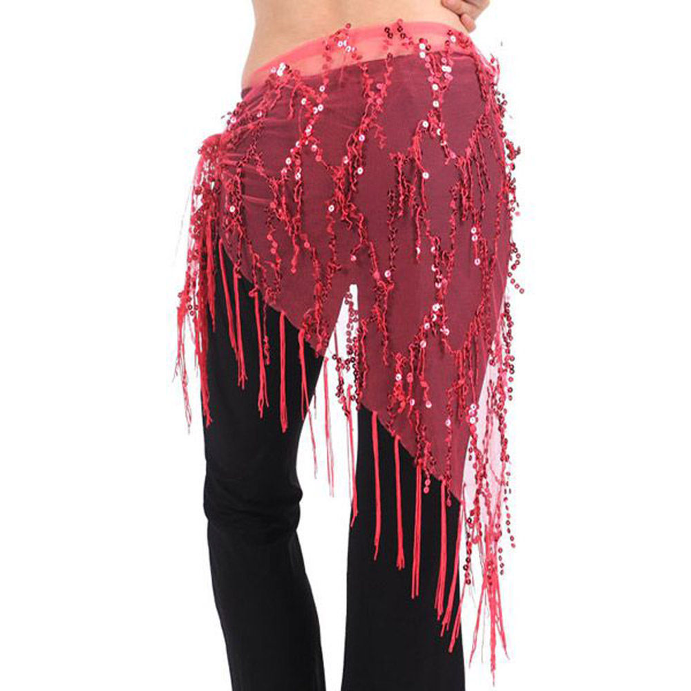 how to make belly dance hip scarf