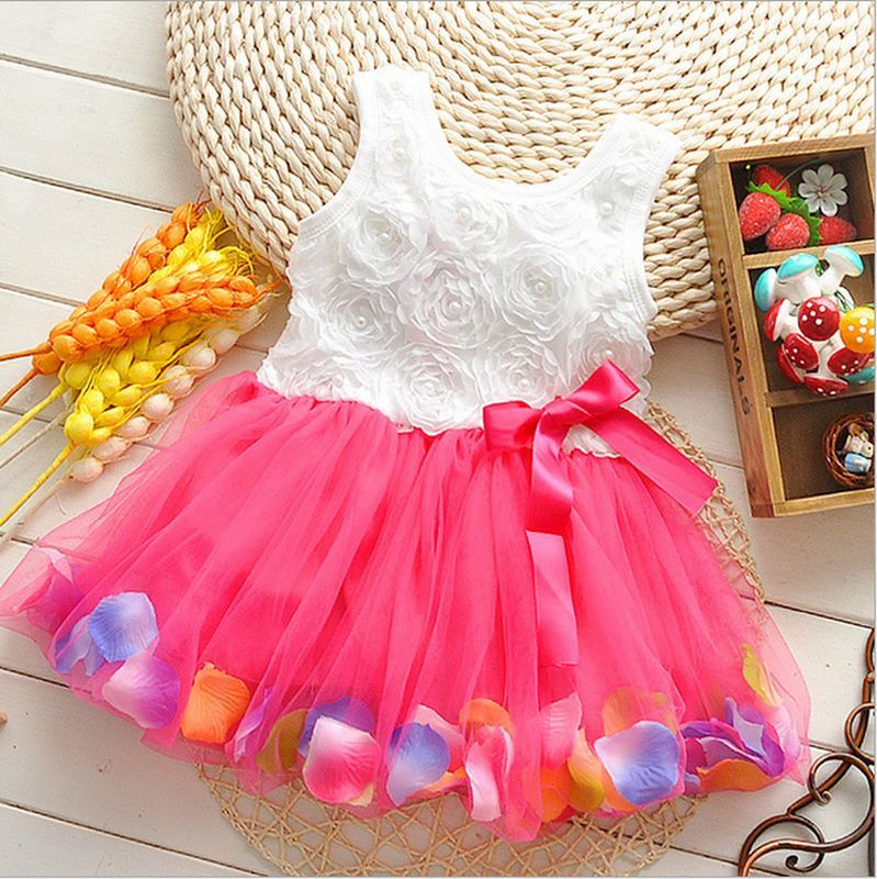 Toddler Newborn Baby Girls Princess Party Tutu Lace Bow Flower ...