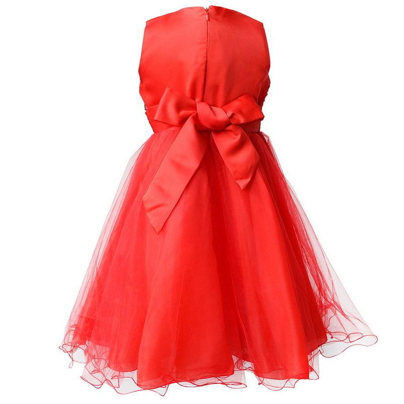 Kids-Girl-Pageant-Flower-Sequin-Wedding-Dress-2-8Y-Bridesmaid-Formal ...