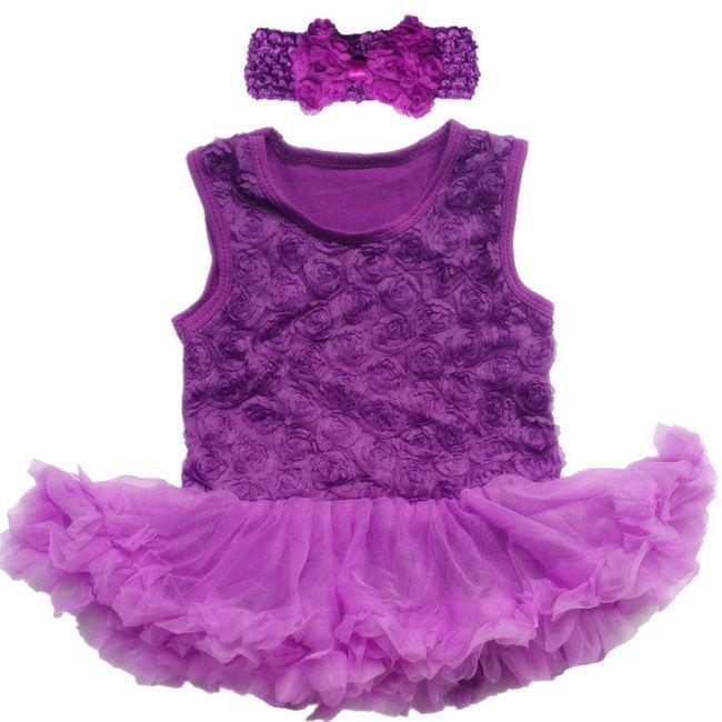 Newborn Infant Baby Girl Outfits Pettiskirt Summer Party Flower Dress 0-12M New