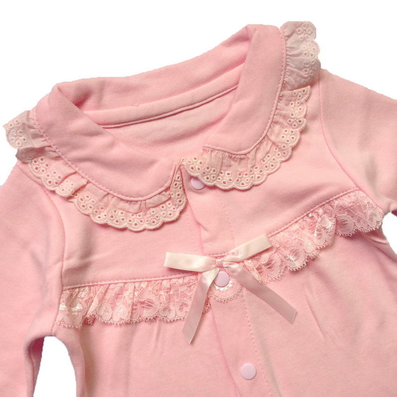 Toddle Baby Infant One-Piece Clothes Girl Outfits Newborn Romper Cotton Lace Bow