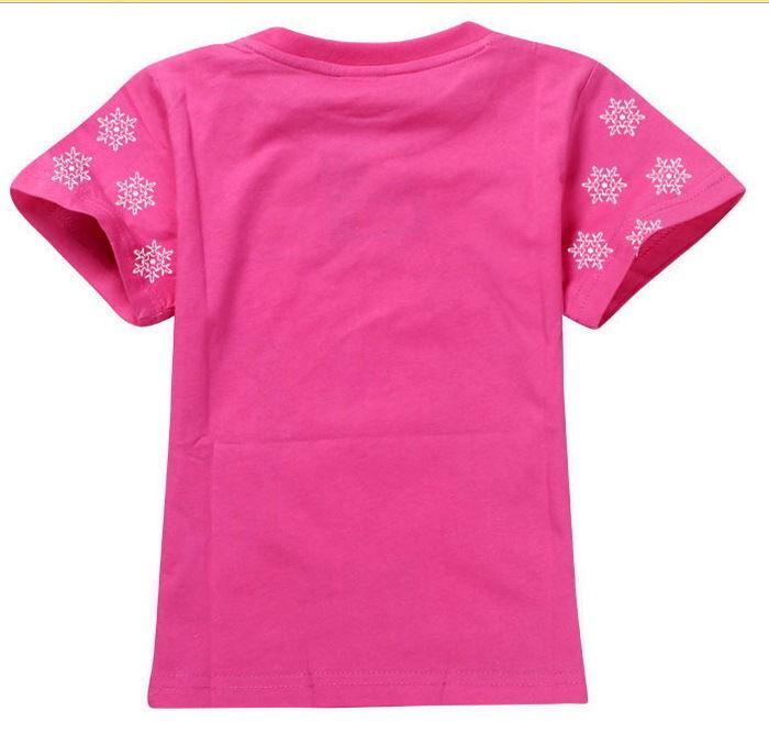 Girls Kids 3-8Y Toddler Top T-Shirt Cotton Tees Elsa Anna Frozen Princess New