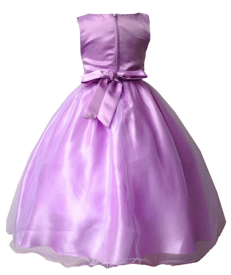 Toddler Girl Pageant Flower Sequin Wedding Long Dress 3-10Y Bridesmaid Formal