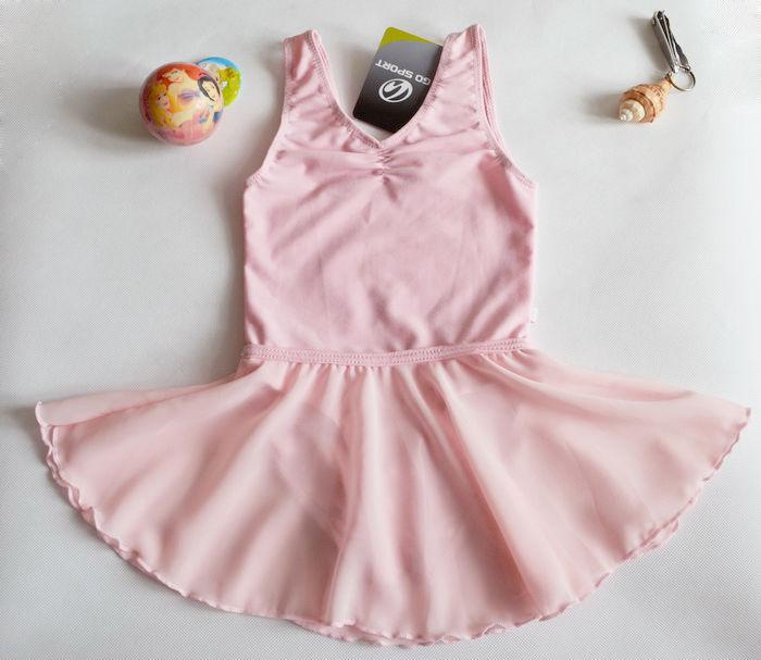 Free Shipping Girl Gymnastics Dance Dress 2-14Y Ballet Tutu Leotard Pink Costume
