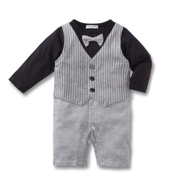 Boy-Baby-Formal-Suit-Set-Romper-Pants-0-18M-Onepiece-Jumpsuit-Clothes-Outfit