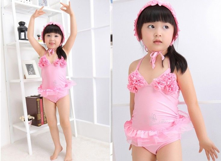 Girls-Swimwear-Kids-Bathers-Swimsuit-Size-2-7Y-Pink-Bikini-Tankini-NWT-Costume