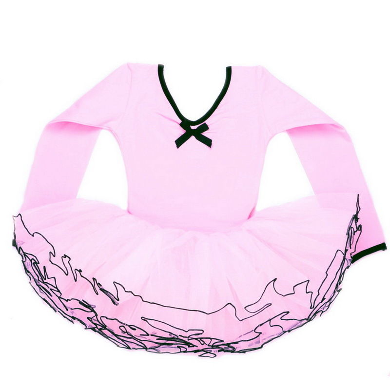 Girls Ballet Dress New Kids Leotard Dance Tutus 3-8Y Pink Skating Toddler Party