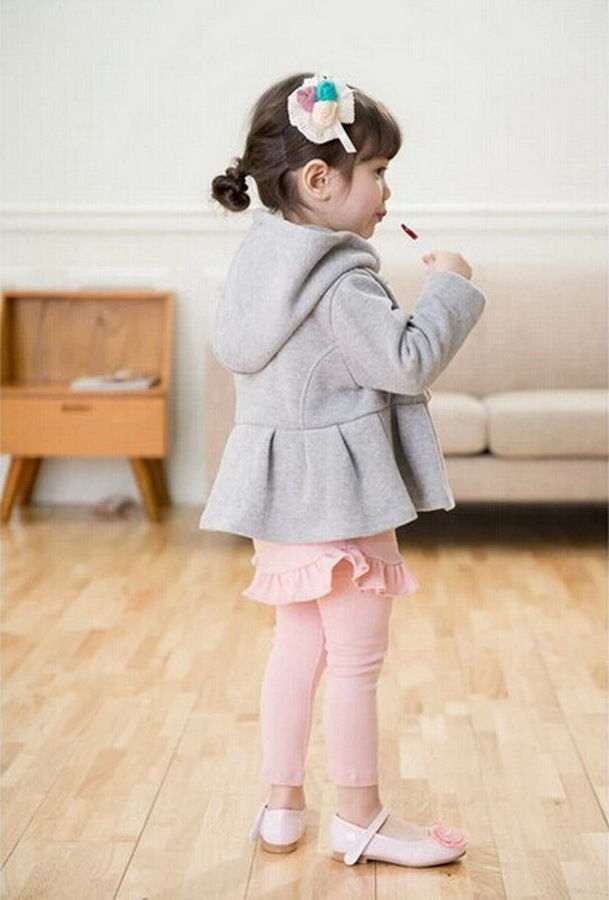 Girls Kids Winter Warm Coat Jacket Snowsuit Hoodies Outwear 2-7Y Padded Clothing