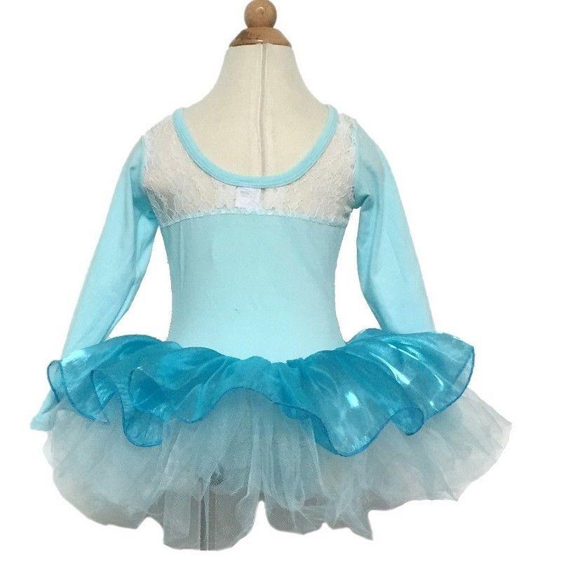 Mädchen Gymnastikanzug Ballettkleid Ballettanzug Kinder Ballett Trikot Elsa Anna