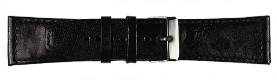 New Men's Flat Stitched Calf Leather Watch Strap Band