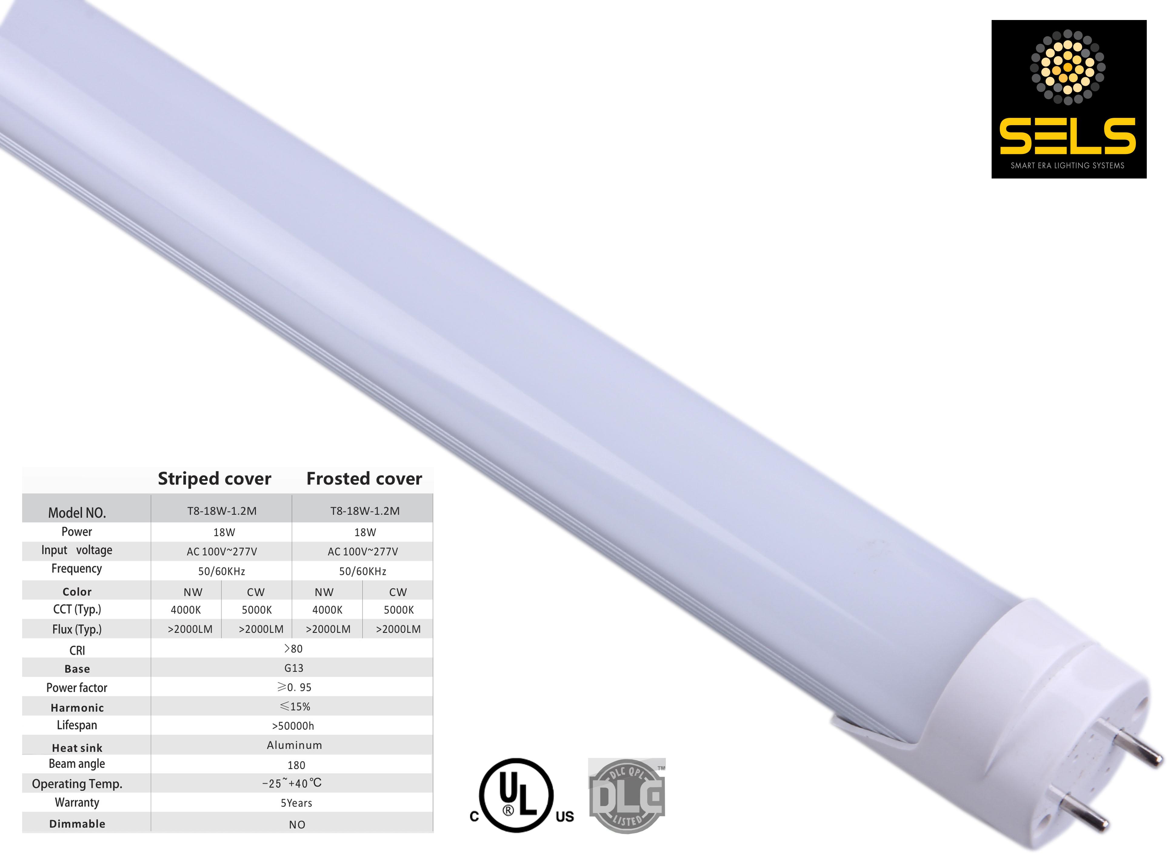 sels led tube 18 watts 4 ft t8 t12 fluorescent tube. Black Bedroom Furniture Sets. Home Design Ideas