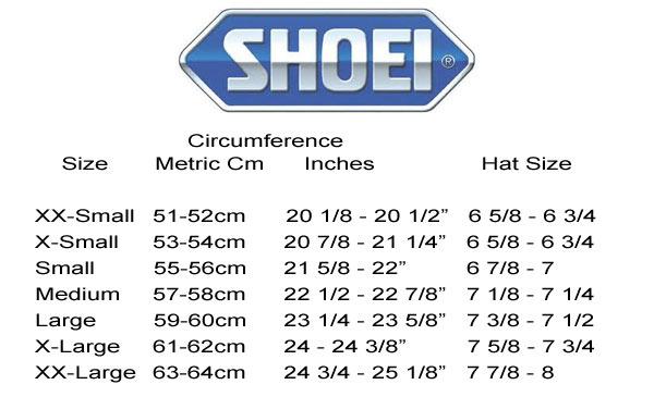 Shoei sizing chart frodo fullring co