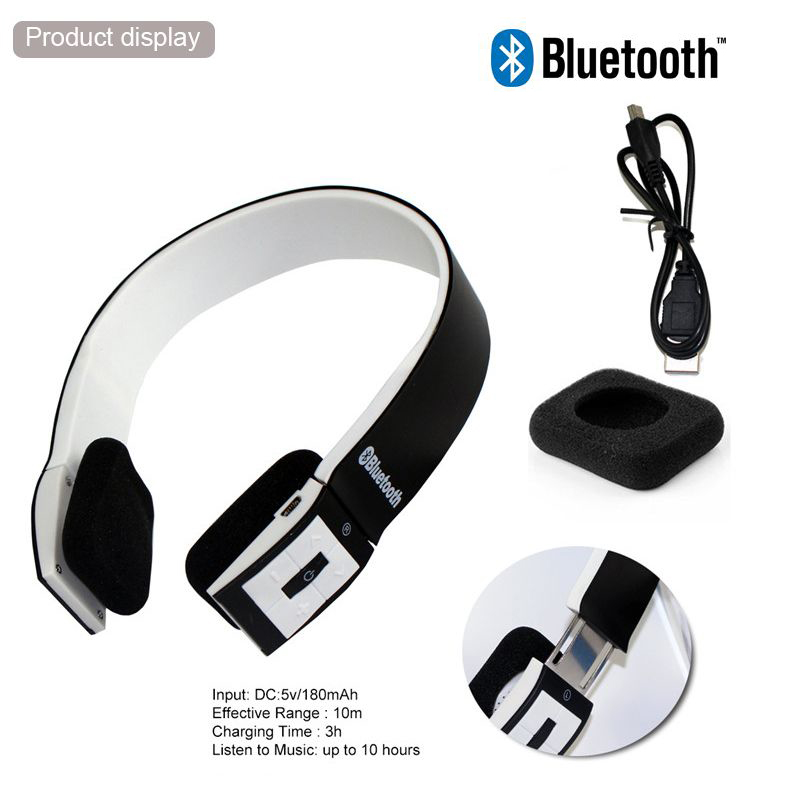 uk bluetooth 4 0 wireless stereo headphones headset with call microphone mic. Black Bedroom Furniture Sets. Home Design Ideas