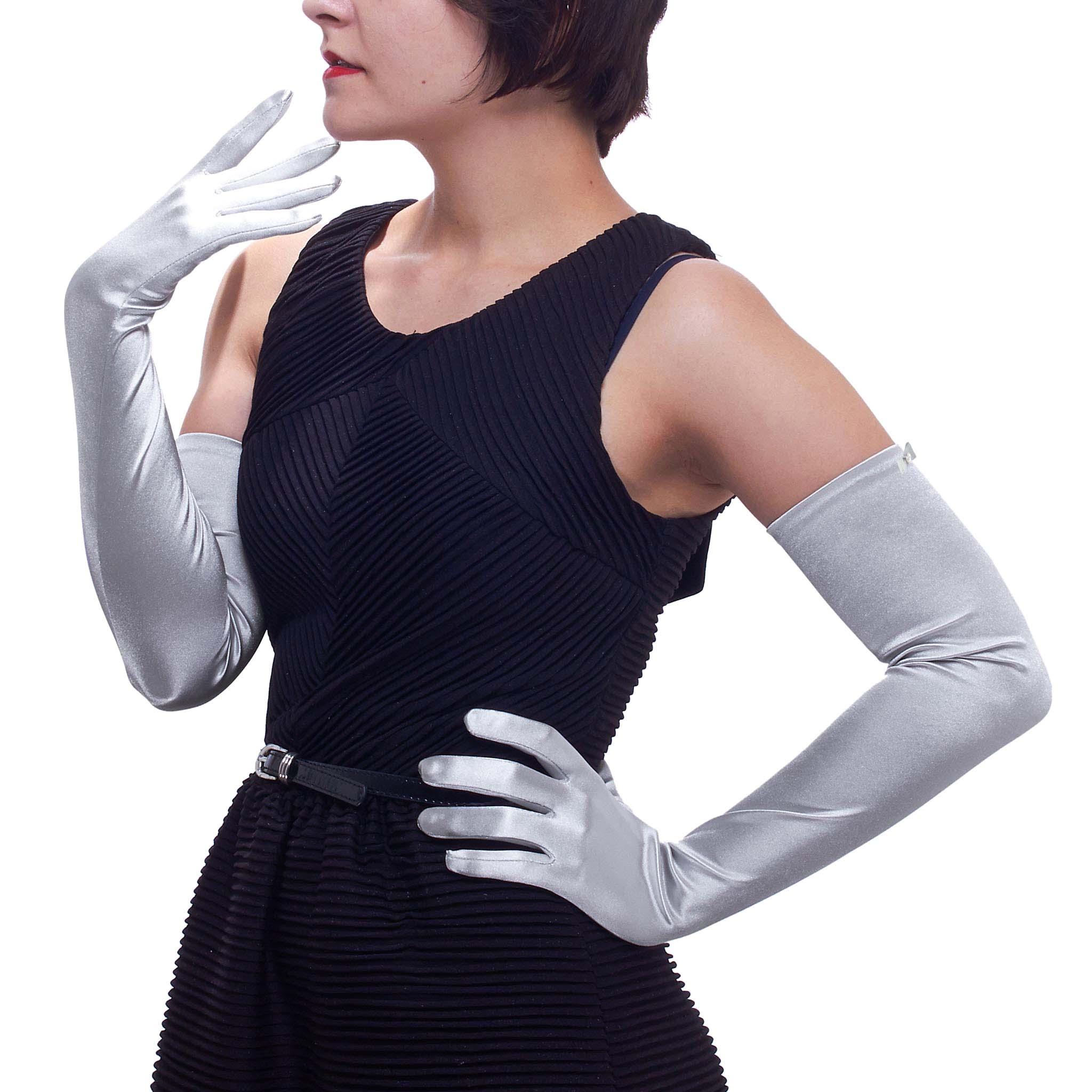 Black gloves evening wear - Opera Gloves