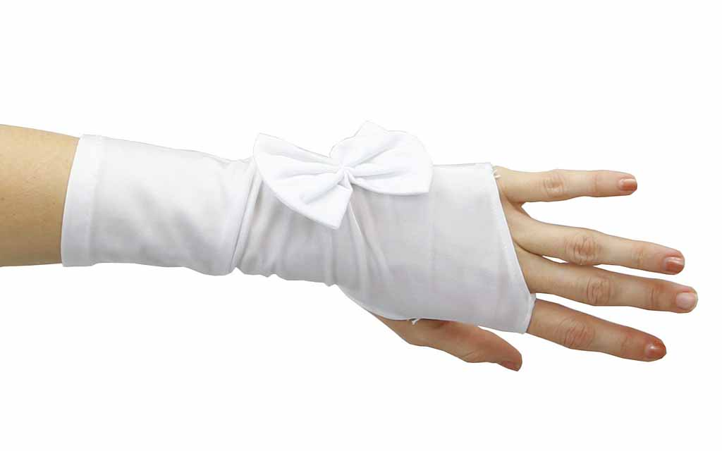 twilight nylon fingerless glove with cute bow ebay