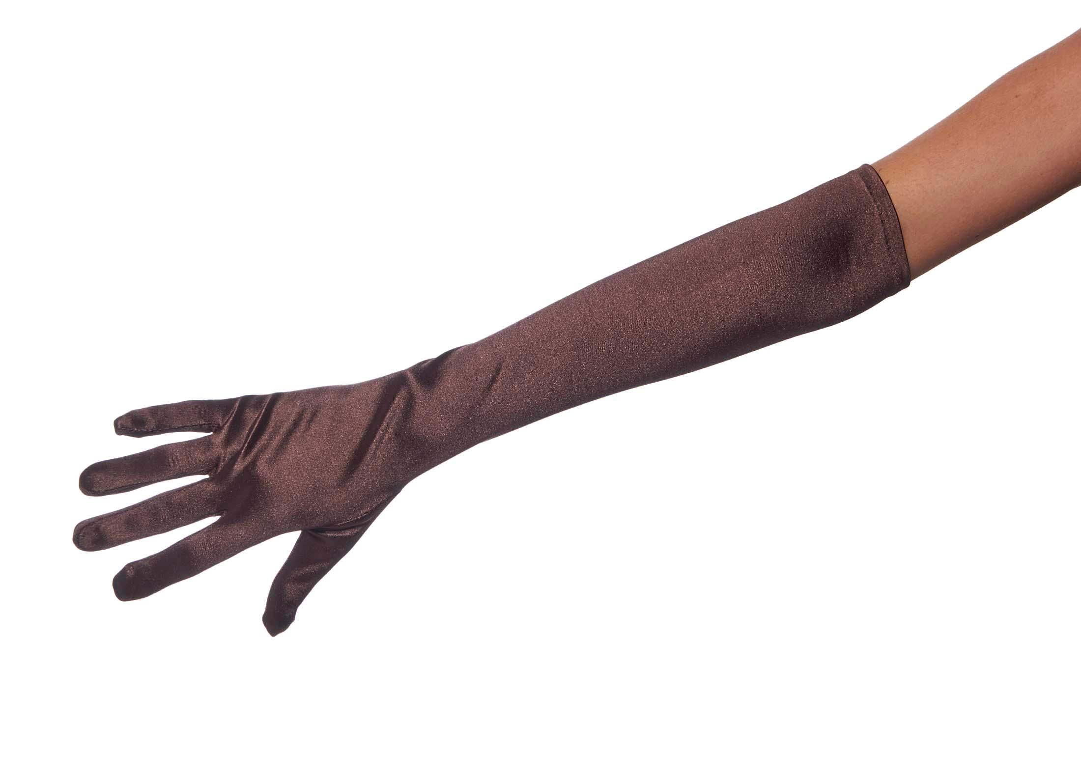 Long satin gloves joy