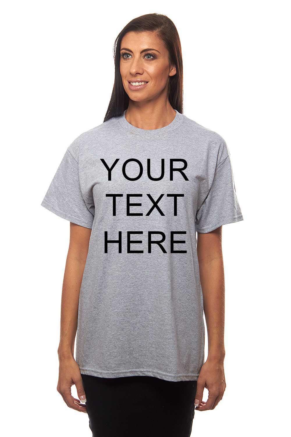 Catchy custom printed personalized crew neck t shirt for Custom printed women s t shirts