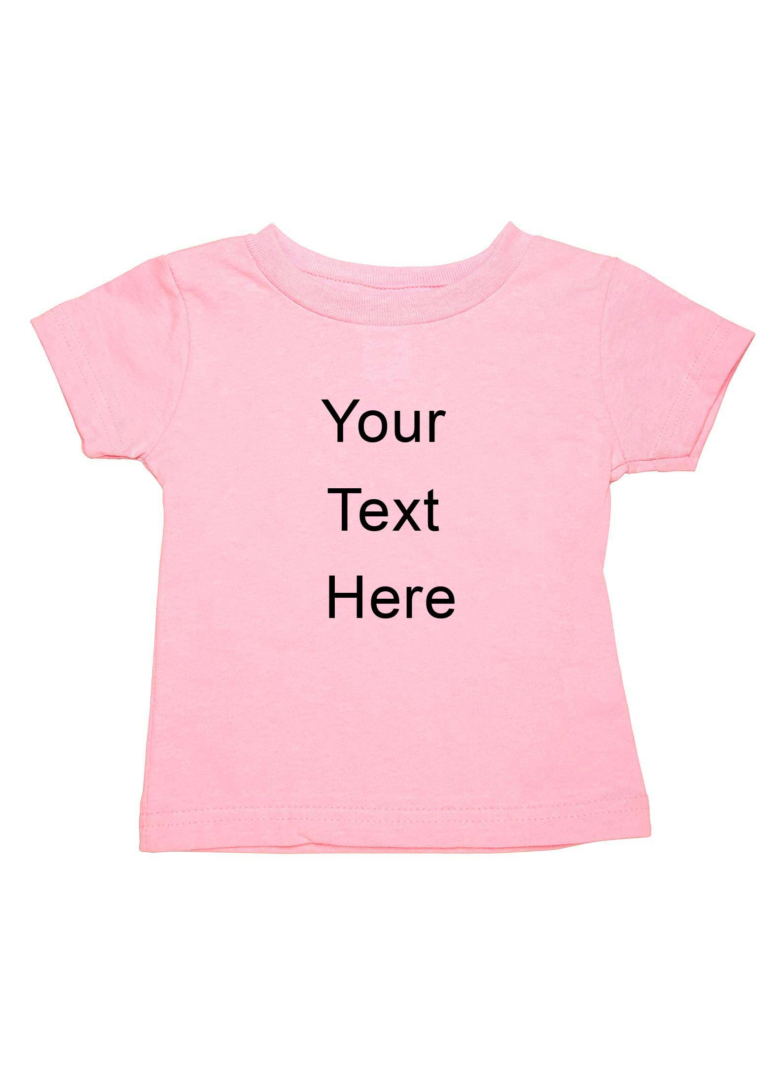 Catchy custom printed personalized t shirt for baby girls for Custom printed dress shirts