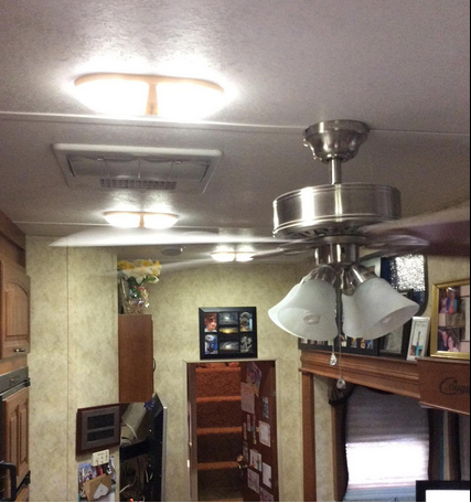 Happy Camper 2 in 1 LED light and Ceiling Fan