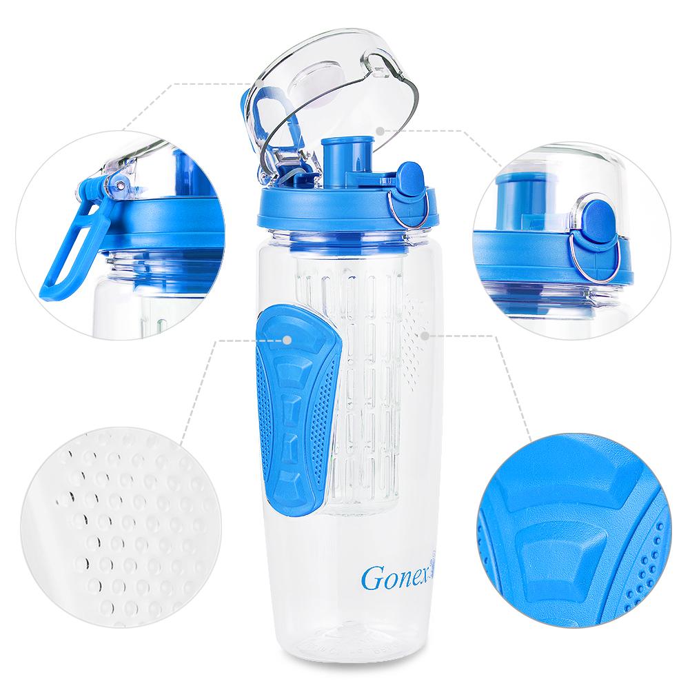 Cycling 900ML Tritan Fruit Infuser Water Bottle Sports ...