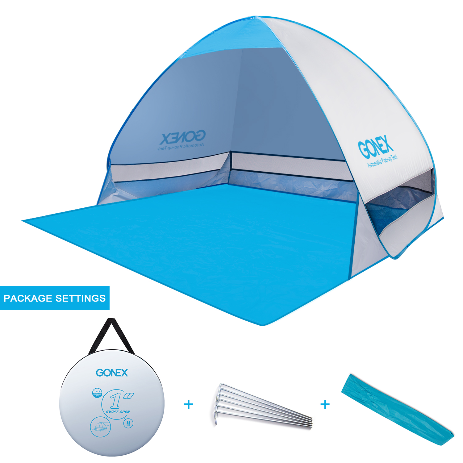 Portal Instant Shade Shelter : Outdoor anti uv pop up instant portable cabana beach tent