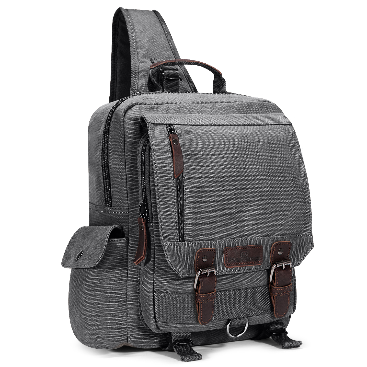 Men Canvas Sling Chest Bag Travel Hiking Cross Body Messenger ...